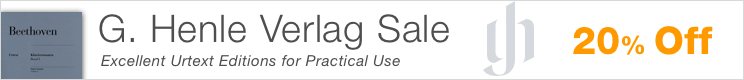 G. Henle Sale - save 20% on urtext editions of classical masterpieces!