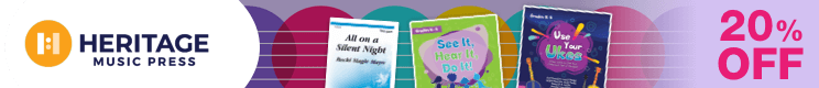 Heritage Music Press Sale - 20% Off Educational Music Materials and Sheet Music for Choir