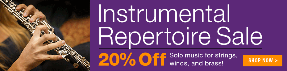 Instrumental Music Sale - 20% off select solo repertoire for strings, woodwinds, brass and guitar!