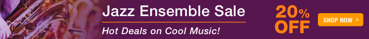 Jazz Ensemble Sale - 20% off sheet music for jazz ensemble, big band, and jazz combo!