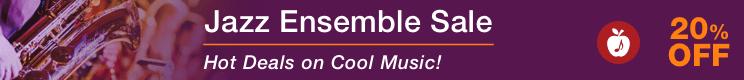 Jazz Ensemble Sale - 20% off sheet music for jazz ensemble, big band, and jazz combo!