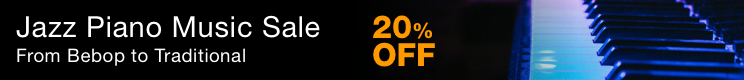Jazz Piano Music Sale - 20% off jazz piano solos and duets!