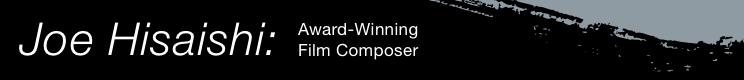 Joe Hisaishi - sheet music from this film composer from Studio Ghibli!