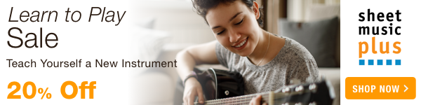 Learn to Play! 20% Off of Instruments, Methods & Accessories on Sheet Music Plus