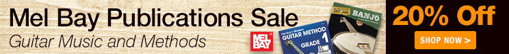 Mel Bay Sale - save 20% on sheet music and method books for guitar, banjo, ukulele, fiddle, and more!