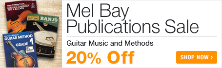 Mel Bay Sale - save 20% on sheet music and method books for guitar, fiddle, ukulele, banjo, and more!