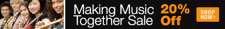 Making Music Together Sale - save 20% on concert band, orchestra. marching band, and choir sheet music for school music and community ensembles!