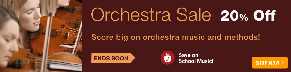 Orchestra Music Sale - 20% off thousands of sheet music parts and scores for orchestra!