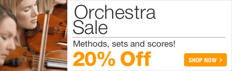 Orchestra Music Sale - 20% off orchestra scores, sets and parts!