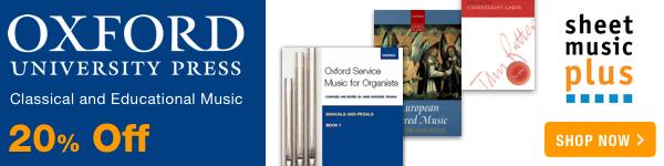 20% Off of Oxford University Press on Sheet Music Plus