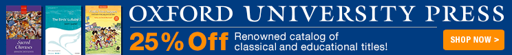 Oxford University Press Sale - 25% off renowned classical and educational sheet music!