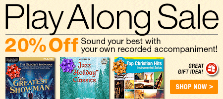 Play Along Sale - 20% off - Sound your best with your own recorded accompaniment!
