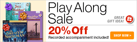 Play Along Sale - 20% off sheet music that comes with your own recorded accompaniment!