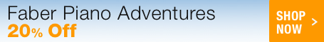 Faber Piano Adventures Sale - save 20% on Faber piano method books