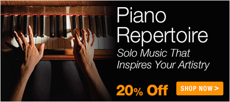 Piano Repertoire Sale - save 20% on piano concertos, piano sonatas and piano solo sheet music!