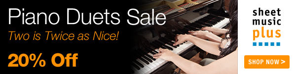 20% Off of Piano Duets on Sheet Music Plus