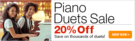 Piano Duets Sale - 20% off thousands of piano duets!