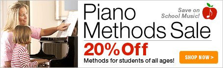 Piano Methods Sale - 20% off piano method books for students of all ages!