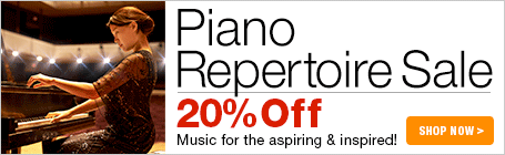 Piano Repertoire Sale - 20% off piano concertos and sonatas!