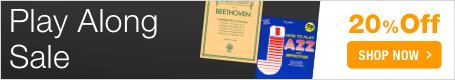 Play Along Sale - save 20% on sheet music that comes with your own recorded accompaniment!