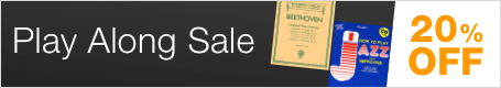 Play Along Sale - save 20% on sheet music to play with your own recorded accompaniment!