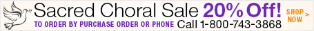 Save 20% on Sacred Choral Sheet Music!