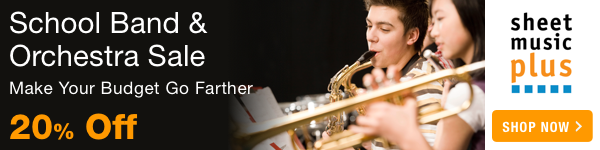 20% Off School Band & Orchestra Music on Sheet Music Plus