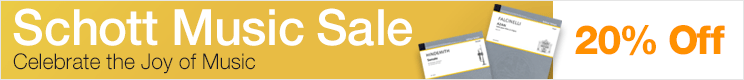 Schott Music Sale - save 20% on renowned classical sheet music!