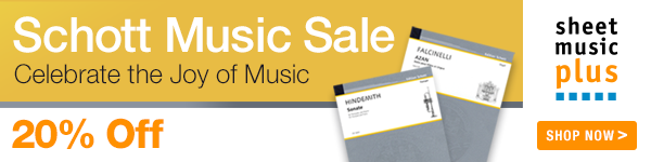 20% Off of Schott Music on Sheet Music Plus