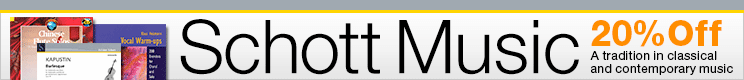 Schott Music Sale - 20% off renowned classical sheet music!