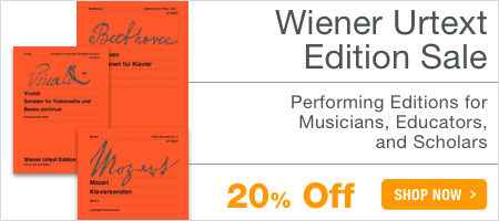 Wiener Urtext Sale - save 20% on practical urtext and pedagogical editions for piano!