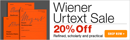 Wiener Urtext Edition Sale - 20% off refined, scholarly and practical editions of the classics!