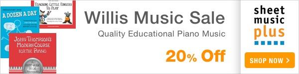 20% Off of Willis Music on Sheet Music Plus