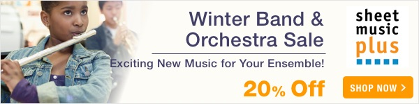 20% Off of Band & Orchestra Music on Sheet Music Plus