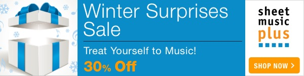 Winter Surprises Sale! See whats 30% Off on Sheet Music Plus