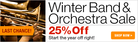 Winter Band and Orchestra Sale - 20% off thousands of sheet music parts and scores for your ensemble!