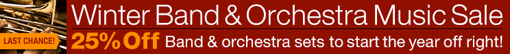 Winter Band and Orchestra Sale - 25% off thousands of scores and parts