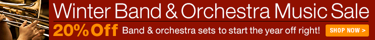 Winter Band & Orchestra Sale - 20% off thousands of sheet music scores and parts