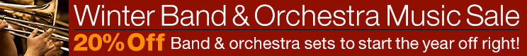 Winter Band and Orchestra Sale - 20% off thousands of scores and parts