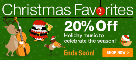 Christmas Sale - Save 20% on favorite sheet music for Christmas!