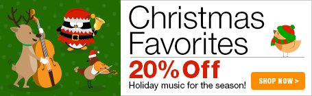 Christmas Favorites Sale - 20% off favorite sheet music for Christmas and the holidays!