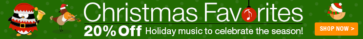 20% Off Christmas Favorites Sheet Music!