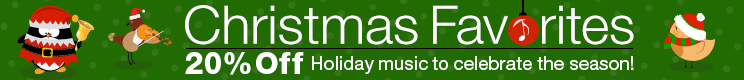 20% Off Christmas Favorites Sheet Music