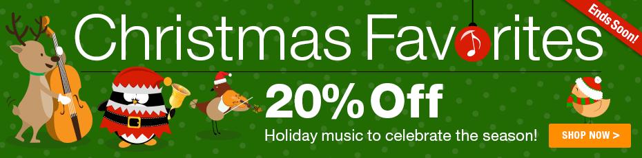 Christmas Sale - Save 20% on favorite sheet music for Christmas!