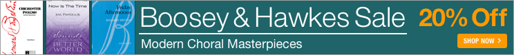 20% Off Boosey & Hawkes sheet music!