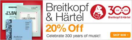 Breitkopf & Härtel Sale - 20% off classical sheet music from the world's first music publisher!