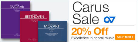 Carus Verlag Sale - 20% off excellent choral sheet music!