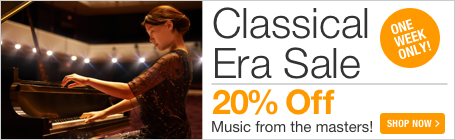 Classical Era Music Sale - 20% off sheet music from your favorite composers of the Classical Era!