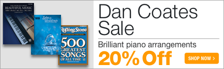 Dan Coates Music Sale - 20% off popular piano music arrangements!