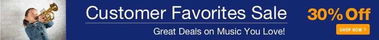 Customer Favorites Sale - 30% off sheet music you love!